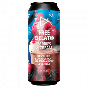 Funky Fluid Free Gelato Berries & Cream Sour Ale NO ABV (Sin alcohol)
